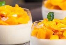 Autour de la Mangue / Zoom sur ce fruit exotique à travers une sélection de recette de cuisine et autres inspirations food.