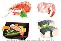 食画 / Food Illustrations / by Gang Hu