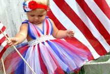 4th of July / Babies showing off their patriotic spirit.