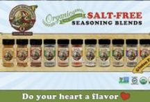Engage Organics Seasoning Blends / Check out our eleven different seasoning blends. All Non-GMO, Organic, and Salt-free!