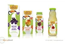 Fruit Juice Packaging Design / Sometimes packaging becomes out dated or lacks luster so a company will hire Murray Brand Communications to create a fresh new look that will significantly differentiate the brand from competitive offerings. Here are some before and after pictures of package designs. #redesign #marketing #packaging
