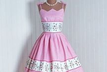 Clothe : 1950s  / Vintage look from 50s  / by Hansa Tingsuwan