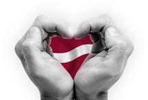 Latvijas neatkaribas diena / Latvian Independence day / Red - White - Red / sarkanbaltsarkanais mums apkārt