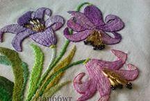 Moje prace haftowane - technika haft płaski, krzyżykowy / Moje hafty wykorzystane na różne rzeczy, jak poduszki, kalendarze, metryczki, pamiątki ślubu, obrazy