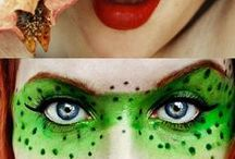 Crazy makeup / Using faces as canvases