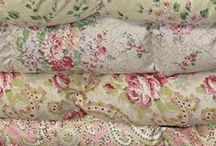 Linens and Fabrics / Lovely fabrics and linens for the home and table.