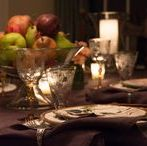 Tablescapes Fall & Thanksgiving / Be inspired with beautiful china, glassware and linens for Fall dining, whether your occasion is casual, formal, everyday or elegant. Explore our table settings and home decor; we have lots of Thanksgiving ideas, too! #tablesetting #tablescape #casual #elegant #fall tablescapes #Thanksgiving