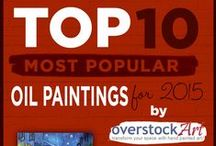 Top 10 Oil Paintings for 2015 / overstockArt.com releases the Top 10 list annually to help customers and companies keep up with the latest interior décor trends and to maintain a modern appeal. The annual top 10 list makes it easy for consumers to stay on top of the trends and find out which oil paintings are most hip and desirable in the marketplace.
