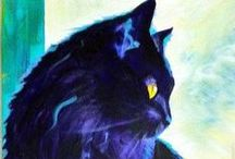 Black Cats / Cats that remind me of my precious Christy Love. / by Kathy M. Storrie/writer/author/pinner