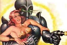 Sci-Fi — Science Fiction / Posters, Pin-up, space rockets — Affiches, pin-ups, vaisseaux spaciaux & fusées