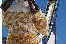 Doll clothes patterns / patrons pour créer vêtements de poupée couture, tricot et crochet. / by Louise Cousineau