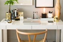 HOME :: Office Spaces / How to create the perfect work from home space.  A desk of my own. Working from home. Carving out stylish small spaces desks at home.