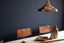 HOME :: Dark Interiors / How to style bold, deep and contrasting colour for home and interiors.