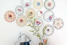 HOME :: Wall Plates / How to style with plates. Perfect ways to show off your china and vintage plates.