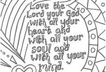 Sunday School Colouring Pages