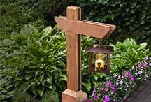 """Garden Decoration / Decorate your garden to promote not only """"sections"""" within the garden but to increase the beauty of your creation."""