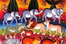 ТИНГА-ТИНГА / Образцы чудесной африканской декоративной живописи.