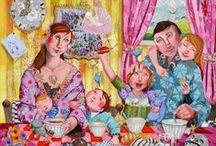 """Faby Artiste / Французская художница, рисующая под ником Faby Artiste о себе пишет немного: """" Я родилась в городке Malestroit, в Бретани. Я - самоучка и рисую с 15-ти лет, а профессионально занимаюсь живописью с 22-х. Я люблю писать так же, как я люблю жизнь, с ее трудностями, ее радостями, ее болями и ее большим счастьем! Моя работа - зеркало моей души: моя духовная вера, осуществленная в ежедневной жизни женщины, жены и матери... Моя картины для вас, - в поисках надежды, веселья и искренности..."""""""