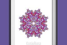 Mandalas KusiyRuna / Láminas de mandalas, realizadas por Mónica Viviana Bermúdez para Kusiyruna