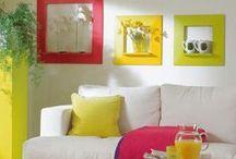 Декор стен / Разные интересные идеи по декорированию стен в интерьере.