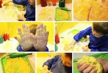 Powder Paint ideas for arts and crafts / Have a look at ideas, videos and tips for incorporating powder paint into your learning setting! All images and videos are linked to our article on all things powder paint! #eyfs #KS1 #KS2 #craftsforkids #nurseryschool #preschool #montessori #toddleractivities #school