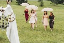Summer wedding is on our mind / Wedding day under the rain. But still happy...