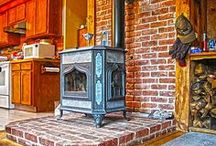 "Wood Stoves and Fireplaces / Nothing is cozier than a woodburing stove or fireplace in the winter!  We heat with our woodstove exclusively-although we do have a small ventfree as a ""backup"". / by eclectic cottage"