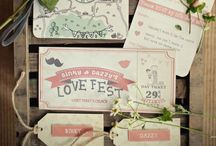 Wedding Stationery Ideas / There are so many stationery styles that suit a #tipi wedding, rustic country or bold & colorful it's another way to reflect your personality, theme & style - a taster of what's to come for your guests!  #tipiwedding #teepeewedding