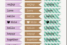 Crafts - Printables / Pretty and cute stuff to print as wallpapers, cards, clip arts and stickers! There are so many!