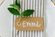 Place Names Ideas / Show your guests where you would like them to sit as well as a little souvenir to keep from your big day. #placenames #tipiwedding #teepeewedding