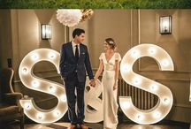 Light Up Letters / Spell out your LOVE or initials in bright lights on your big day, perfect for inside or out of the tipis!. #loveletters #lightletters #tipiwedding #teepeewedding