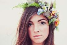 Floral Hair Wedding Ideas / The latest craze of a fresh flower crown for the bride & her maids for the ultimate boho chic theme                             #bohobride #flowercrown #bohochic #rustic #festival #tipiwedding #teepeewedding #derbyshire #midlands #tipihire #wedding #outdoorwedding