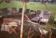 Event Lounging Ideas / Hay bales, deck chairs to chesterfield sofas, give your guests somewhere to break away from it all for a moment, whether that's somewhere separate inside or outside of your venue. Here's some lovely ideas for all Wedding styles!   #tipis #teepees #tipiwedding #teepeewedding #midlands #tipihire #derbyshire #marquee #peaktipis #outdoorwedding