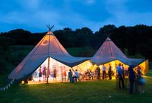 Tipis at Night Wedding Ideas / Our magical & atmospheric teepees come alive at night with a thousand twinkly fairies - its all about the light   #fairylights #festoons #tipis #teepees #tipiwedding #teepeewedding #midlands #derbyshire #tipihire #peaktipis