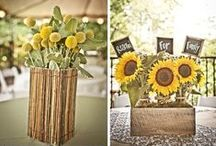Sunflower Wedding Ideas / Sunflowers are the perfect quintessential summer Wedding flower. They are cheerful & fun, plus their dark centers add a touch of drama too. #Sunflowers #Bright #Yellow #Rustic #Flower #Blooms #Cheerful #Fun #Summer #Wedding
