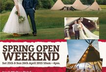 Spring Open Weekend 2015 / Come & take a peek at our magnificent & unique Tipis at our Spring Open Wkd on 25th & 26th April in the beautiful Peak District, along with a host of award winning East Mid's Wedding Suppliers. This will be our 5th showcasing Wkd & in our 5th wonderful year too, so its guaranteed to be bigger & better than ever & definitely one not to miss if you are thinking of having a Tipi Wedding. Izaak Walton Hotel, Dovedale, Ilam, Derbyshire, DE6 2AY #SpringOpenWeekend #SpringShowcase #Tipis #Teepees