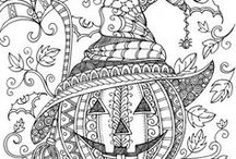 Halloween coloriages