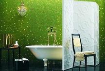 Interior - Bathroom / #home #decor #bathroom #architecture #salledebain #design #metal #bois #couleurs #bain #tube #decoration #scandinavia #meubles #agencement #apartment #house #bad #tiles #bath #shower / by Fran