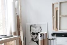 A Workspace / Artstudios. Mine and others.