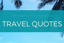Travel Quotes + Inspiration / My favorite original and popular travel quotes. From a professional travel blog bringing you wanderlust and adventure.