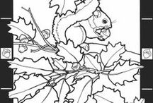 Vorlagen / printables - glass stain - coloring pages - embroidery  ....