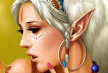 Faefolk and Elves / No pin limits from my boards but I appreciate follows :)