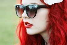 Red Hair Inspiration / Beautiful images of bold, bright red hair and red hair inspiration. #Redhair