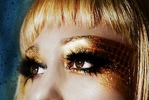 Golden hair inspiration / sparkling gold hair inspiration and ideas.