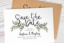 SAVE THE DATE / Different ways to inform your guests that you are getting married !