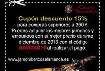 Comprar Jamón ibérico y Jamón serrano. / Por 1,00€ pruebas nuestros chorizos y salchichones.