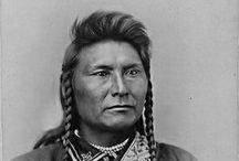 Nez Perce Chief Joseph (aka Joseph I and II) / Hin-mah-too-yah-lat-kekt, popularly known as Chief Joseph, or Young Joseph, or Joseph II (1840-1904), succeeded his father Tuekakas (Chief Joseph the Elder), in 1871, as the leader of the Wallowa band of Nez Perce, a tribe indigenous to the Wallowa Valley in northeastern Oregon, USA. He led his band during the most tumultuous period in their contemporary history (...). Wikipedia