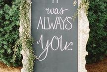 WEDDING SIGN / Messages to the guests? Cute ideas to show the guests directions, ideas, favors, gifts....
