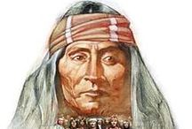 Apache Chiefs  / Répartition actuelle des tribus apaches: (Navajos), Apaches de l'Ouest, Chiricahuas, Mescaleros, Jicarillas, Lipans, et Apache des Plaines (Kiowa-Apaches). - http://fr.wikipedia.org/wiki/Apaches - http://en.wikipedia.org/wiki/Apache - http://www.wmat.nsn.us/history.html - http://www.jicarillaonline.com/ - http://www.mescaleroapache.com/ - http://www.lipanapache.org/ - http://plainshumanities.unl.edu/encyclopedia/doc/egp.na.085