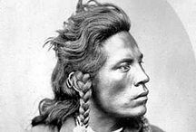 Curly & Friends : Crow Indians and Scouts of the U.S. Army / In all, 6 Crow scouts had guided the 7th Cavalry to the Little Bighorn River.  Two of them - White Swan and Half Yellow Face, leader/chief of the crow scouts - went into battle with Major Marcus A. Reno when he crossed the river and attacked the Indian village on the western side.  The other four - Curly, White Man Runs Him, Goes Ahead, and Hairy Moccasin - were with Custer's battalion until shortly before he engaged the Sioux and Cheyenne on the eastern side. - (bcm.bc.edu/issues/summer_2006)